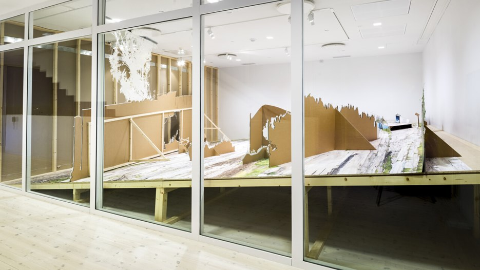 Andreas Johansson / Place Position, Vy från utställningen, Bildmuseet 2014. Andreas Johansson / Place Position, View from the exhibition, Bildmuseet 2014
